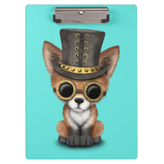Cute Steampunk Baby Red Fox Clipboard