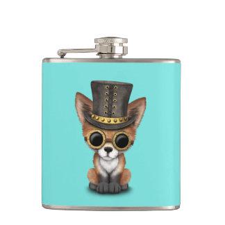 Cute Steampunk Baby Red Fox Flask