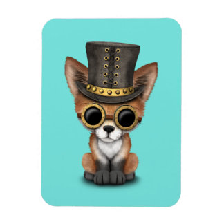 Cute Steampunk Baby Red Fox Magnet