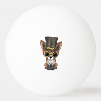 Cute Steampunk Baby Red Fox Ping Pong Ball