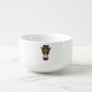Cute Steampunk Baby Red Fox Soup Mug
