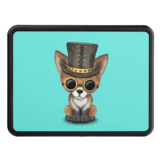 Cute Steampunk Baby Red Fox Trailer Hitch Cover