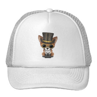 Cute Steampunk Baby Red Fox Trucker Hat