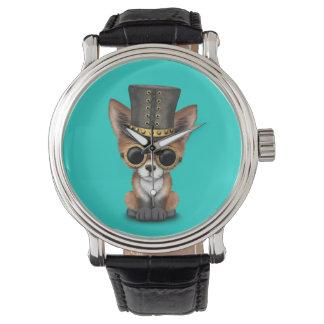 Cute Steampunk Baby Red Fox Watch