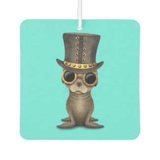 Cute Steampunk Baby Sea Lion Car Air Freshener