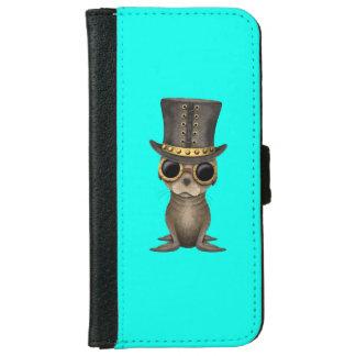 Cute Steampunk Baby Sea Lion iPhone 6 Wallet Case