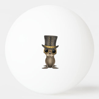 Cute Steampunk Baby Sea Lion Ping Pong Ball