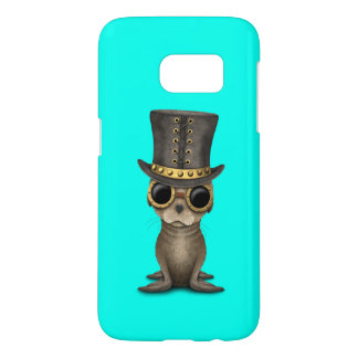 Cute Steampunk Baby Sea Lion Samsung Galaxy S7 Case