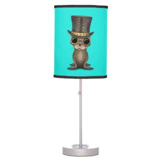 Cute Steampunk Baby Sea Lion Table Lamp