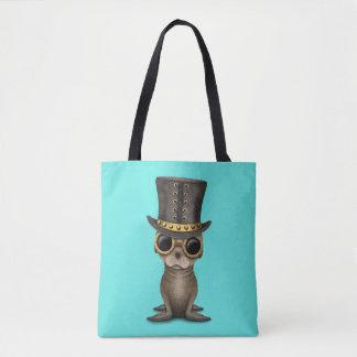 Cute Steampunk Baby Sea Lion Tote Bag