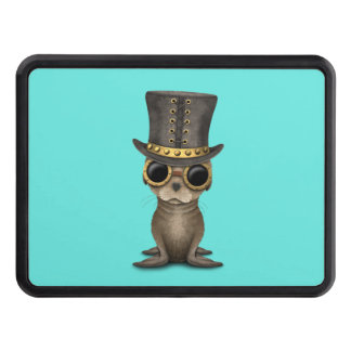 Cute Steampunk Baby Sea Lion Tow Hitch Cover