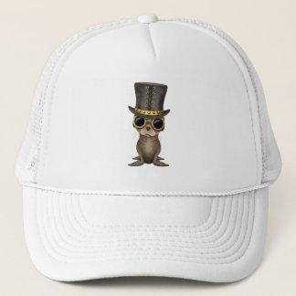 Cute Steampunk Baby Sea Lion Trucker Hat