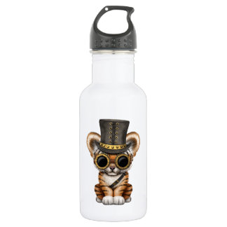 Cute Steampunk Baby Tiger Cub 532 Ml Water Bottle