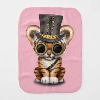 Cute Steampunk Baby Tiger Cub Burp Cloth