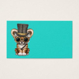 Cute Steampunk Baby Tiger Cub Business Card
