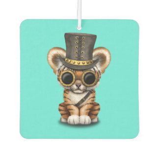 Cute Steampunk Baby Tiger Cub Car Air Freshener