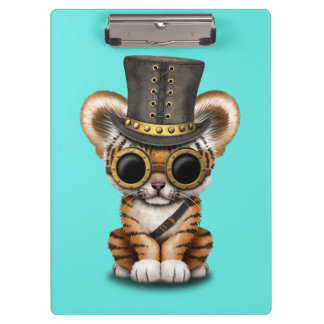 Cute Steampunk Baby Tiger Cub Clipboard