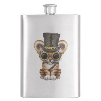 Cute Steampunk Baby Tiger Cub Hip Flask