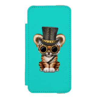 Cute Steampunk Baby Tiger Cub Incipio Watson™ iPhone 5 Wallet Case