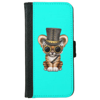 Cute Steampunk Baby Tiger Cub iPhone 6 Wallet Case