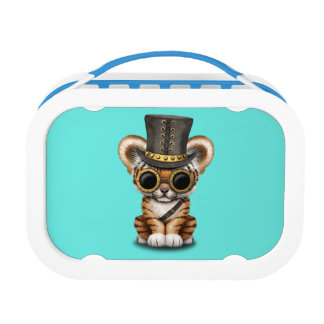 Cute Steampunk Baby Tiger Cub Lunch Box