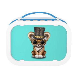 Cute Steampunk Baby Tiger Cub Lunchbox