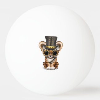 Cute Steampunk Baby Tiger Cub Ping Pong Ball