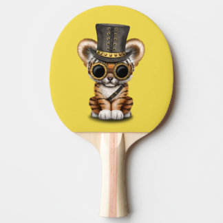 Cute Steampunk Baby Tiger Cub Ping Pong Paddle