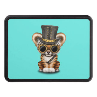Cute Steampunk Baby Tiger Cub Trailer Hitch Cover