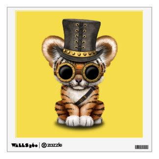 Cute Steampunk Baby Tiger Cub Wall Sticker