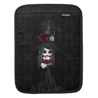 Cute Steampunk Goth Girl iPad Sleeve