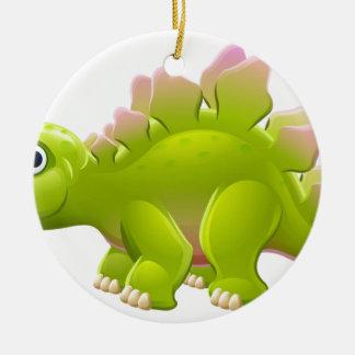 Cute Stegosaurus Cartoon Dinosaur Ceramic Ornament