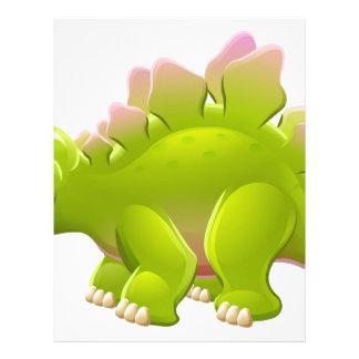 Cute Stegosaurus Cartoon Dinosaur Letterhead