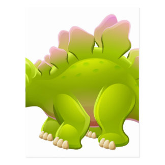 Cute Stegosaurus Cartoon Dinosaur Postcard