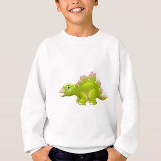 Cute Stegosaurus Cartoon Dinosaur Sweatshirt