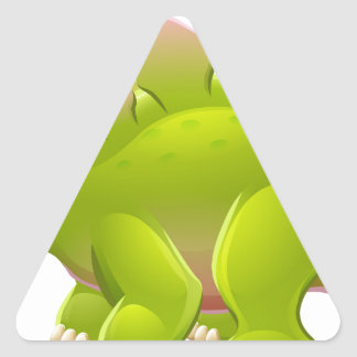 Cute Stegosaurus Cartoon Dinosaur Triangle Sticker