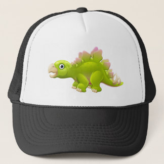 Cute Stegosaurus Cartoon Dinosaur Trucker Hat