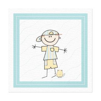 Cute Stick Figure Boy Canvas Print