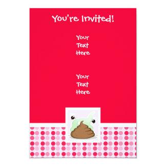 "Cute Stinky Poo 5"" X 7"" Invitation Card"