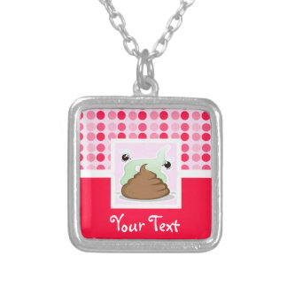 Cute Stinky Poo Square Pendant Necklace