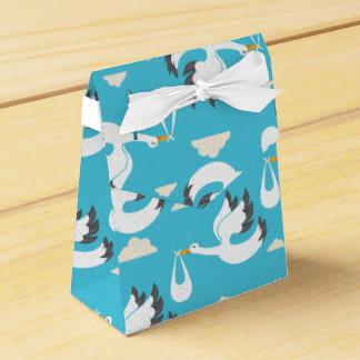 Cute Storks carrying babies pattern Favor Box