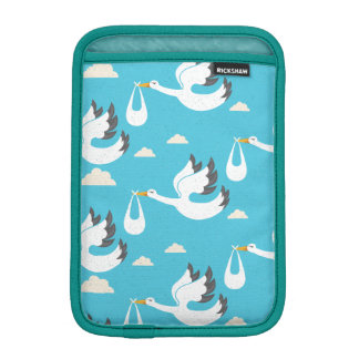 Cute Storks carrying babies pattern iPad Mini Sleeve