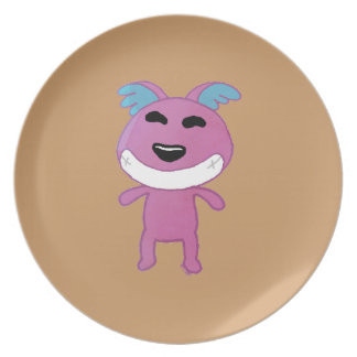 Cute strange dog party plates