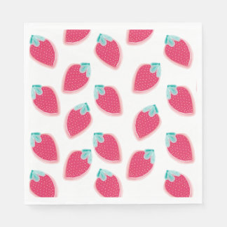 Cute Strawberry Fruit Pattern Disposable Napkins