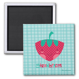 Cute Strawberry Magnet