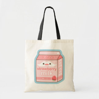 Cute Strawberry Milk Canvas Bag