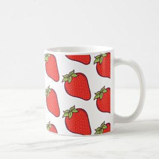 Cute Strawberry Pattern Coffee Mug
