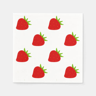 Cute Strawberry Pattern Disposable Napkin