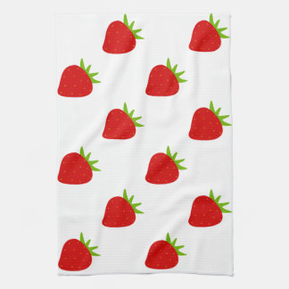 Cute Strawberry Pattern Kitchen Towel