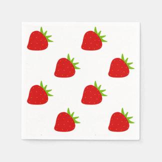 Cute Strawberry Pattern Napkin